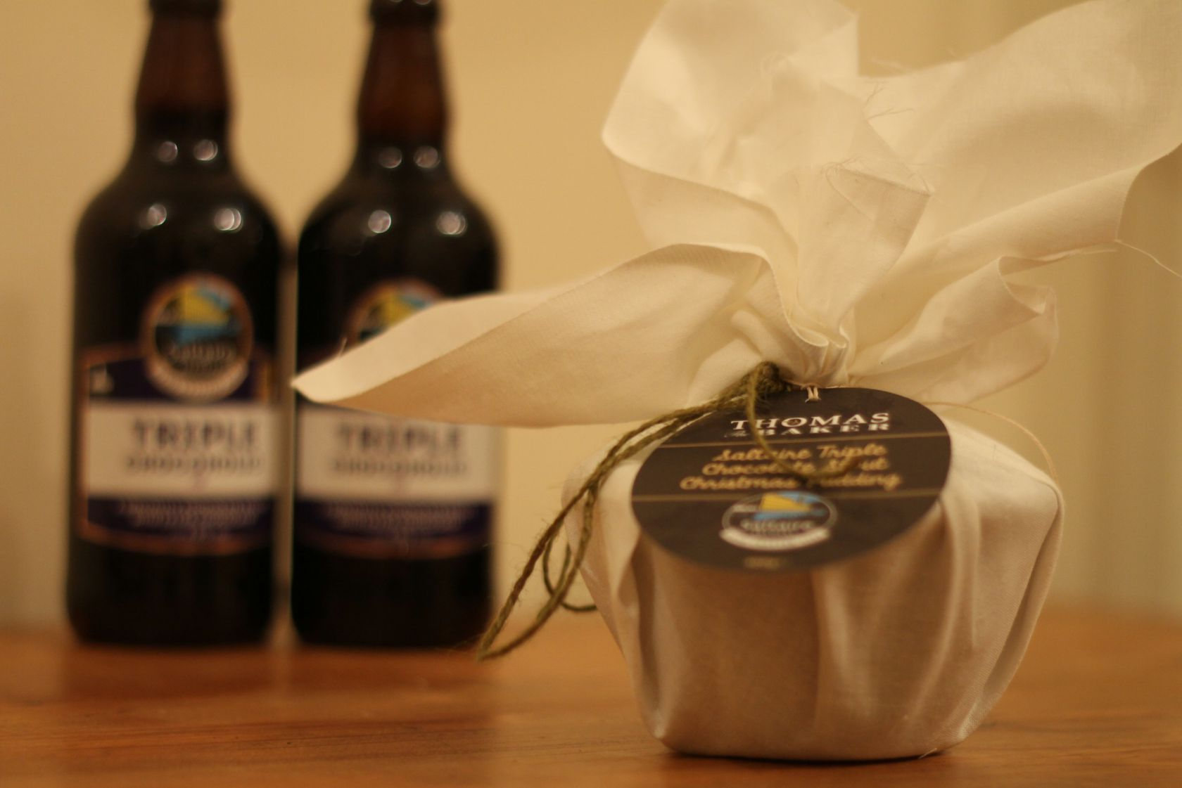 Saltaire Triple Chocolate Stout Christmas Pudding - Thomas ...