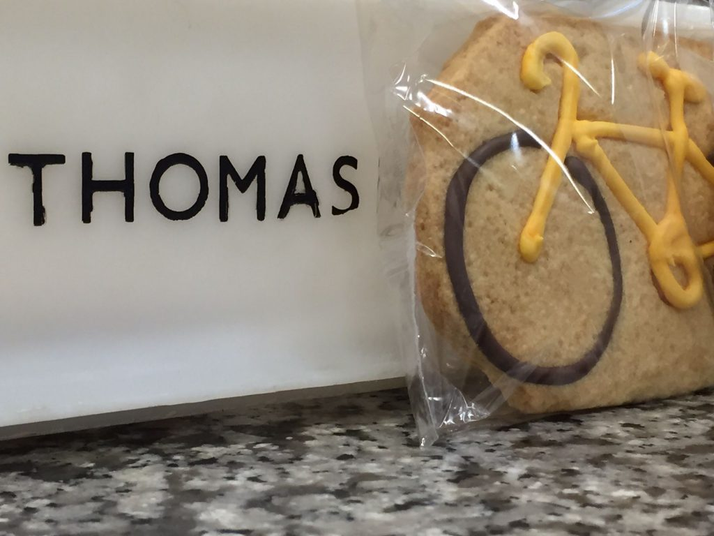 Tour de Yorkshire biking biscuits