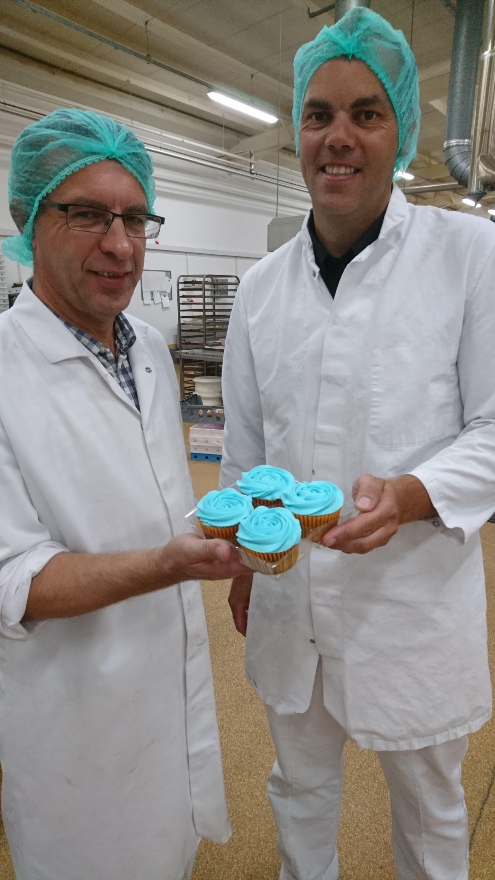 Thomas the Baker Forget-Me-Not cupcakes for Alzheimer's Society