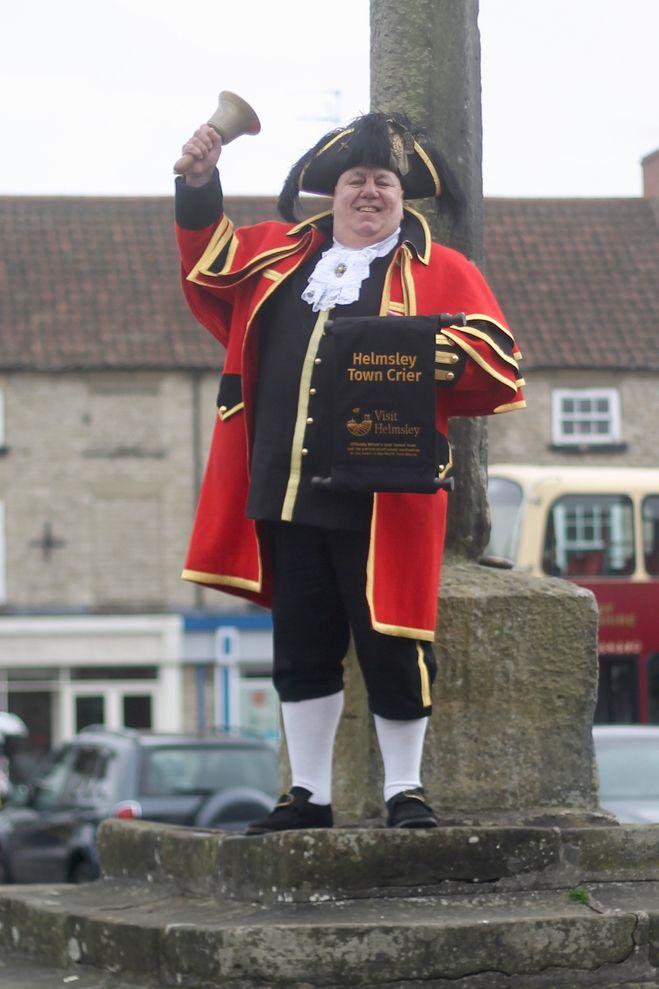 Thomas of Helmsley Grand Opening - David Hinde town crier