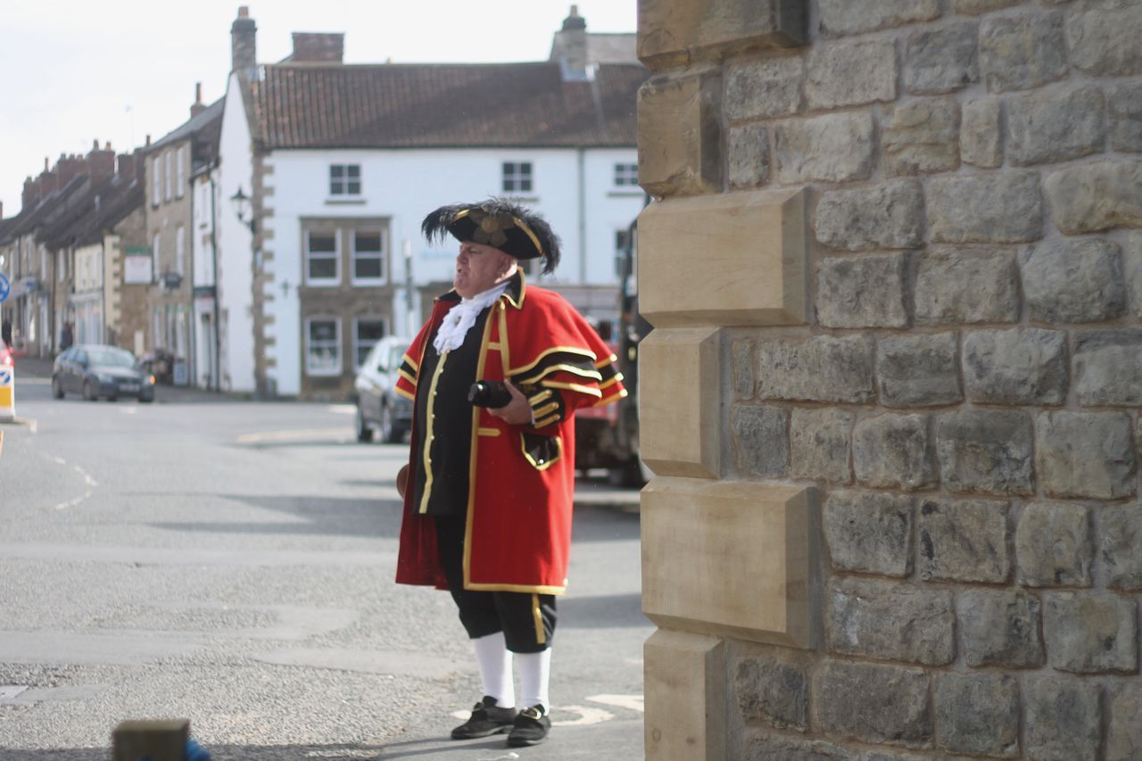 Thomas of Helmsley Grand Opening - David Hinde town crier
