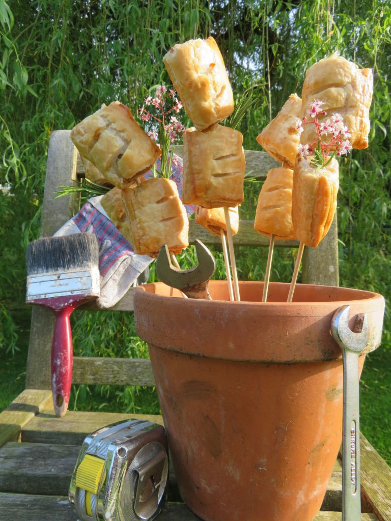 Bouquet of sausage rolls'ies from Thomas the Baker