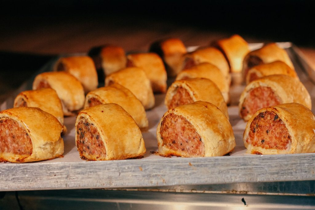 Thomas the Baker award winning deli black pudding sausage rolls